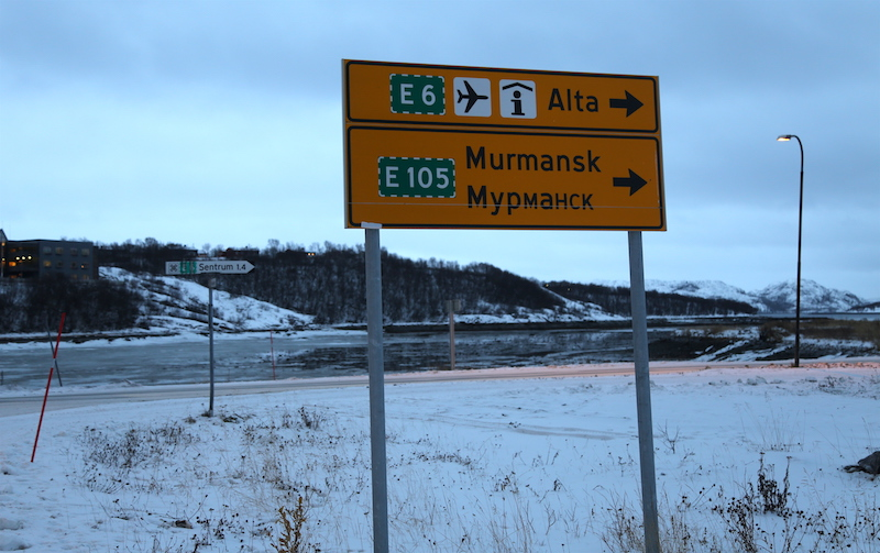 Russian Sign in Kirkenes, Northern Norway