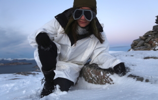 Annette White Snow Hiking with Hurtigruten in Hammerfest Norway