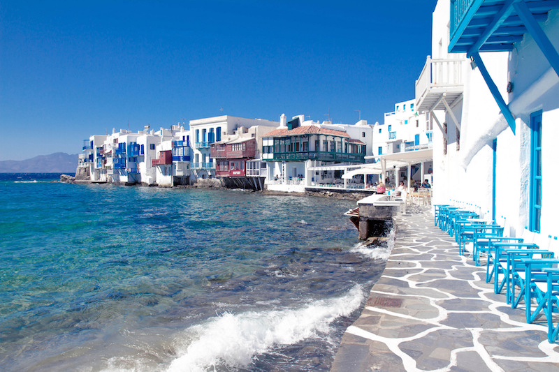 The architecture of Mykonos, Greece