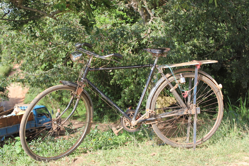 Bicycle on the Hiriwaduna Village Trek in Sri Lanka