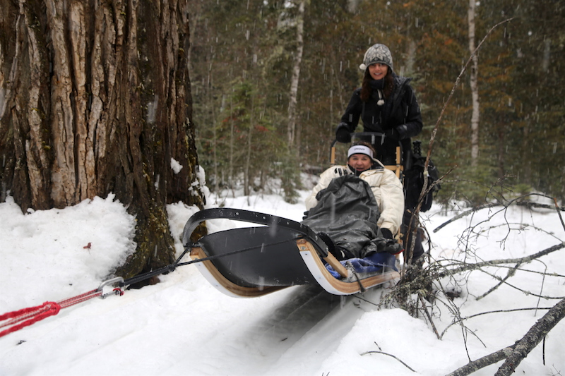 Annette White Dogsledding in Bigfork Montana