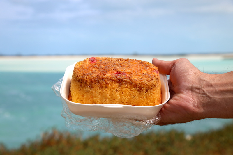 The rum cake at Mom's Bakery in Exuma