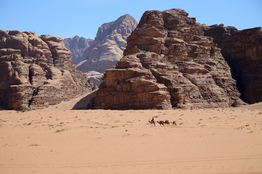 The desert of Wadi Rum in Joran - Middle East