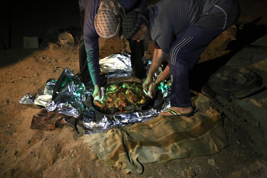 A zarb dinner in Wadi Rum Jordan