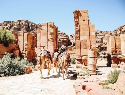 Visiting Jordan's Lost City of Petra Ruins (Day & Night)
