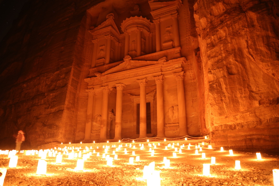 Petra at Night in Jordan