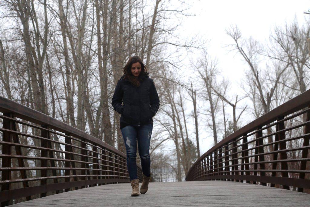 Annette White Walking in Montana