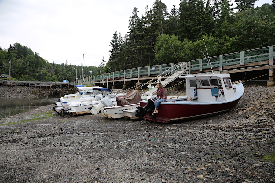 Low Tide at Hall's Harbor in the Bay of Fundy Nova Scotia