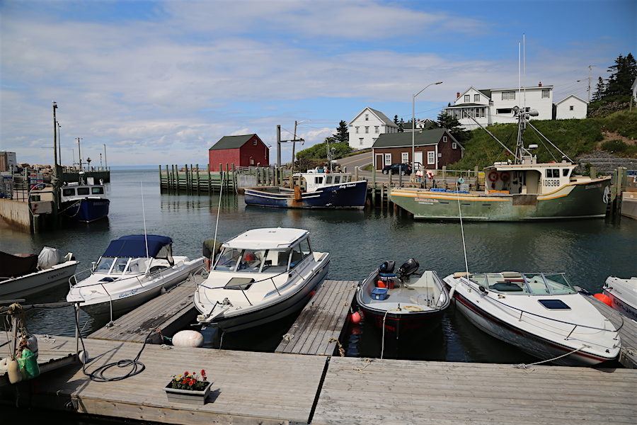High Tide at Hall's Harbor in the Bay of Fundy Nova Scotia