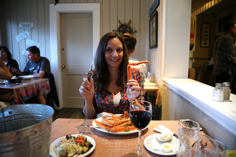 Annette White at Baddeck Lobster Suppers in Nova Scotia
