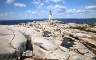 The iconic Lighthouse at Peggy's Cove in Nova Scotia, Canada