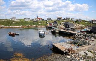 Pretty boats at Peggy's Cove in Nova Scotia, Canada