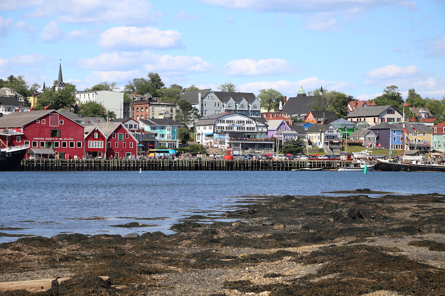 The perfect view of the Unesco World Heritage city of Lunenburg in Nova Scotia