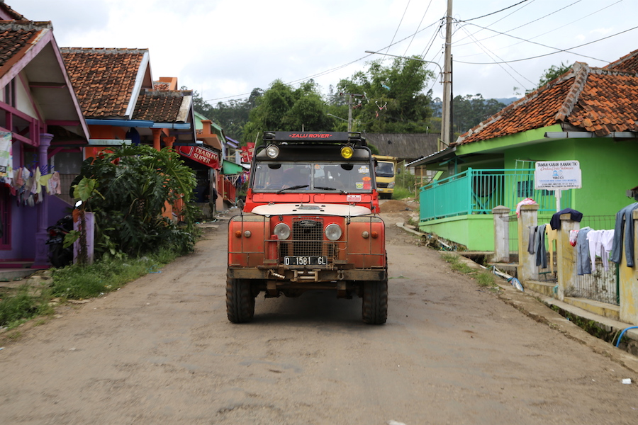 Land Rover Jeep off-roading in Bandung, Indonesia