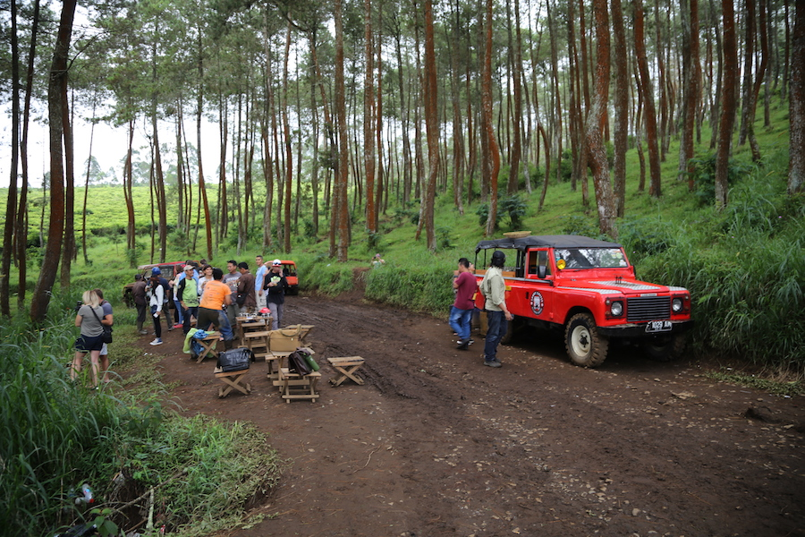 Off-roading in Bandung, Indonesia