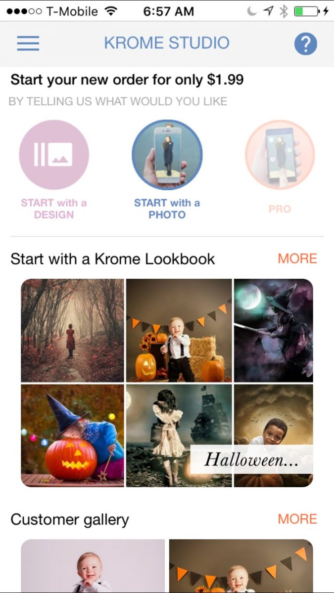 Photo editing with the Krome App