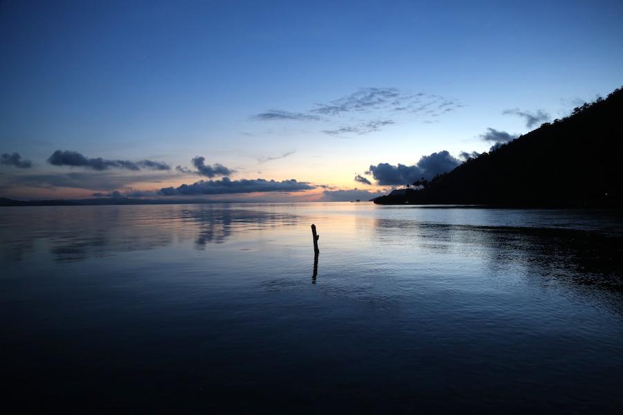 The Sunrise in Raja Ampat in Indonesia