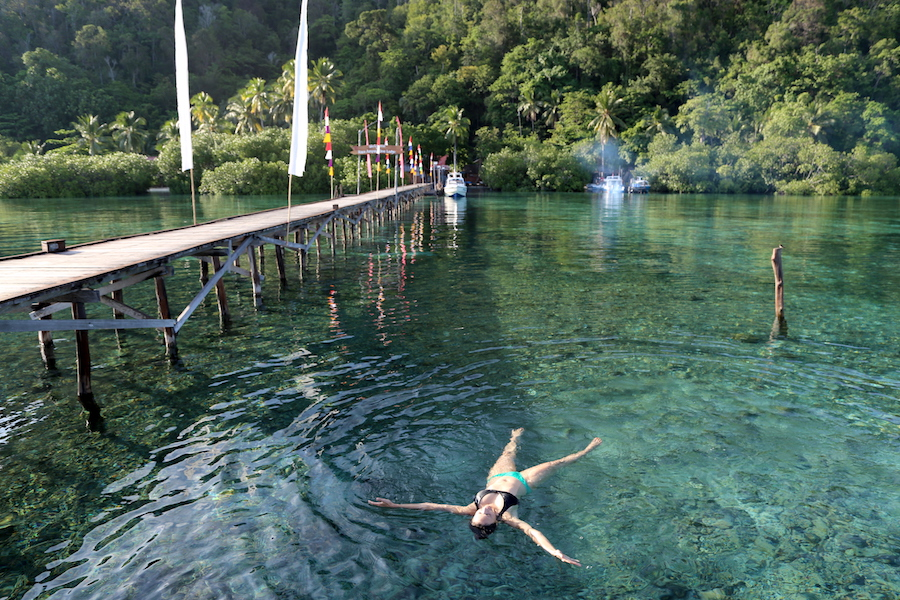 Bucket List: Annette White swimming at the Raja Ampat Dive Lodge