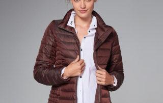 Trendy Winter Jacket Shiny Red