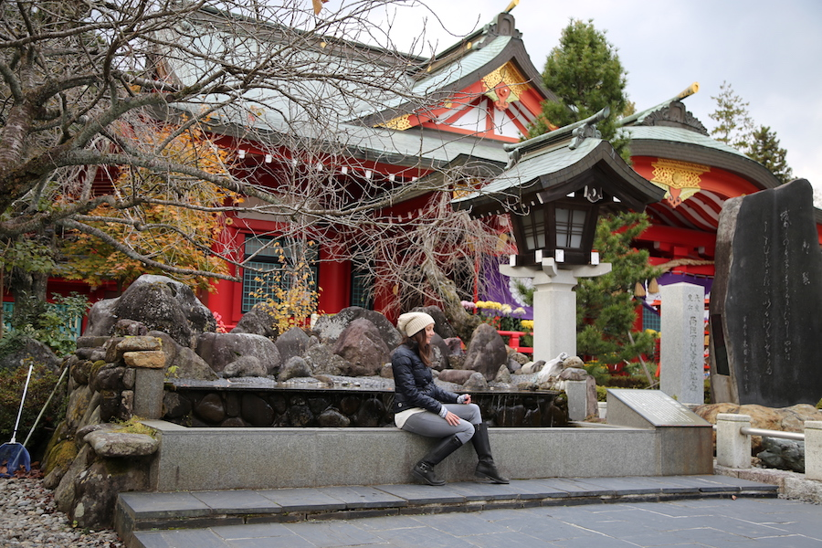 The temple at Sendai Castle in Japan