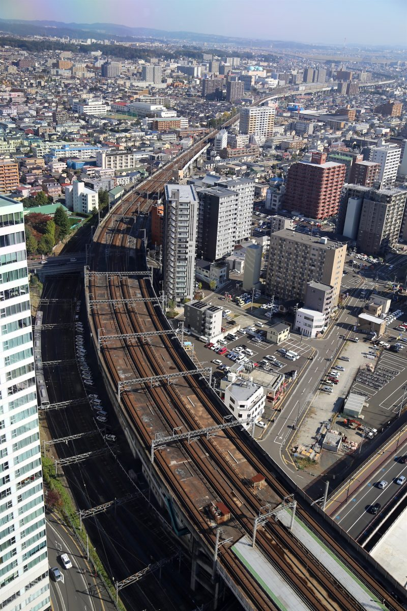 The view from the Aer building in Sendai, Japan