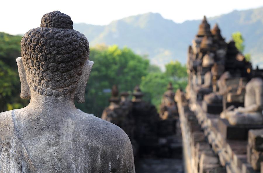 Buddha Statue at Borobudur Temple Yogyakarta Indonesia
