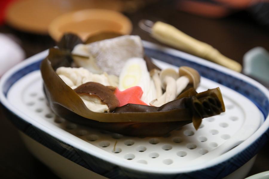 Dinner at Hotel Sakan Ryokan in Sendai, Japan