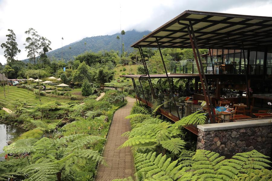 The restaurant at Dusun Bambu Family Park in Bandung, Indonesia