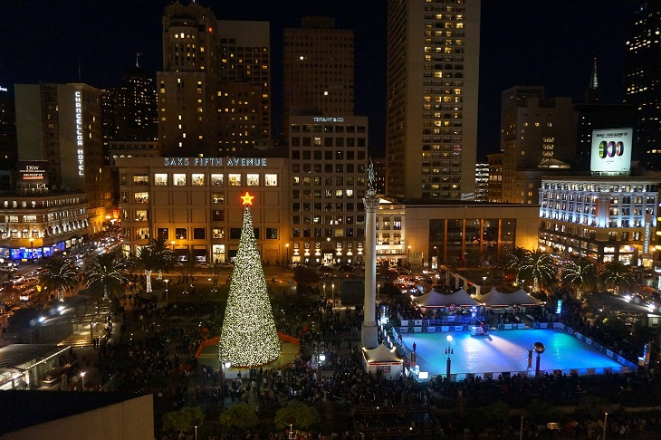 Christmas Time in San Francisco, California
