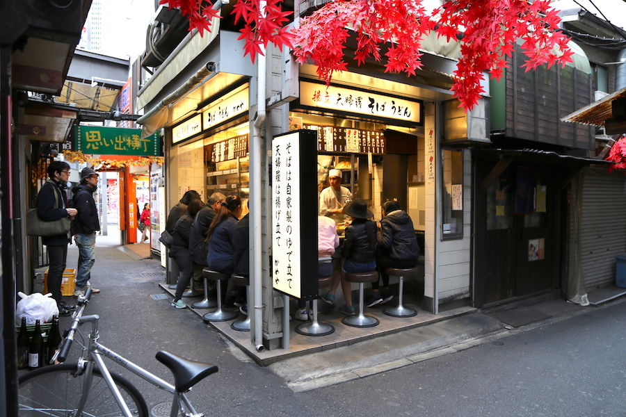 A yakitori restaurant in Tokyo's Piss Alley