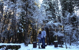 Peter & Annette White in Yosemite Valley National Park in the Winter