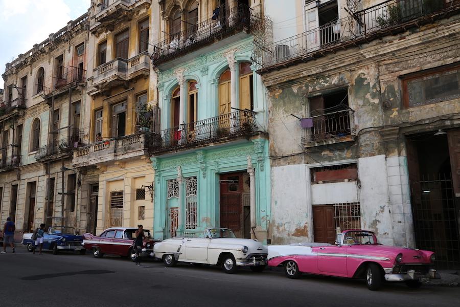 Classic Convertible Cars in Havana Cuba