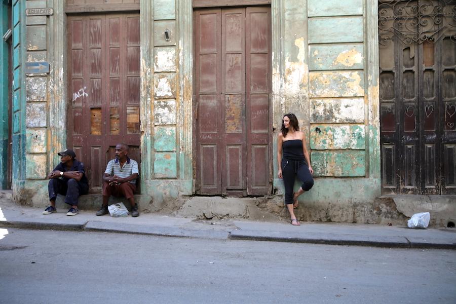 Annette White in Old Town Havana Cuba