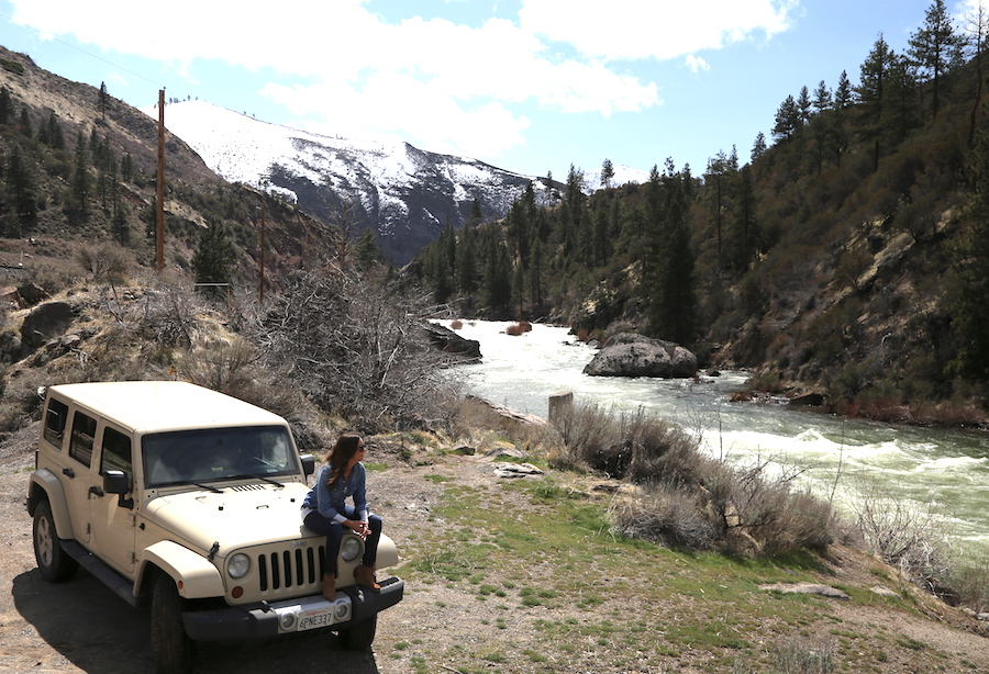 Jeep Wrangler Pitstop on the back to California