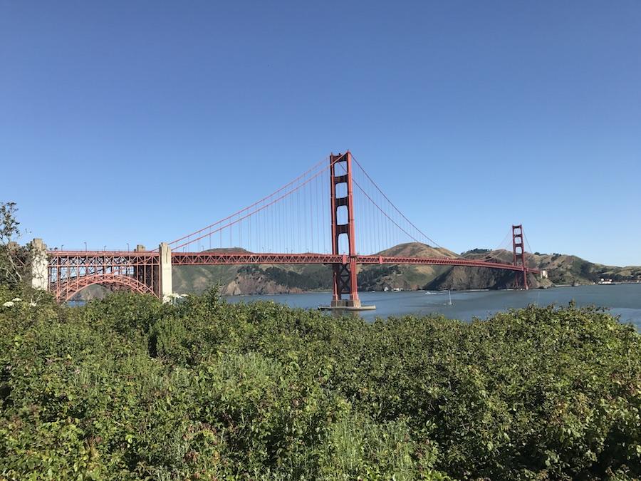 Views of San Francisco's Golden Gate Bridge