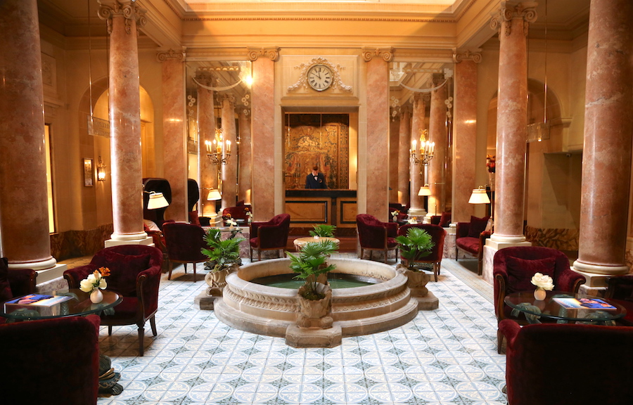 Beau-Rivage Hotel Lobby in Geneva Switzerland