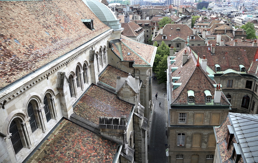 The Rooftops of Old Town Geneva Switzerland