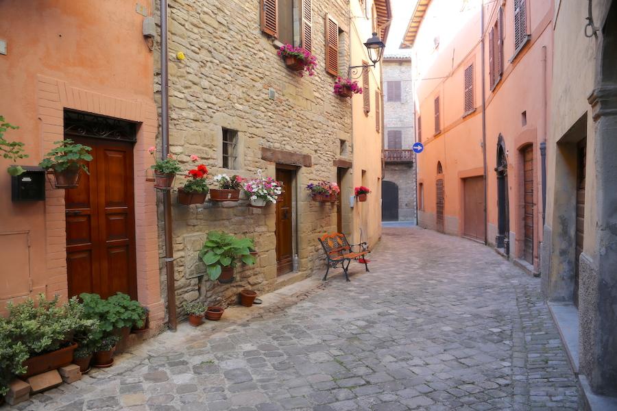 The quaint village of Mercatello sul Metauro in Le Marche, italy