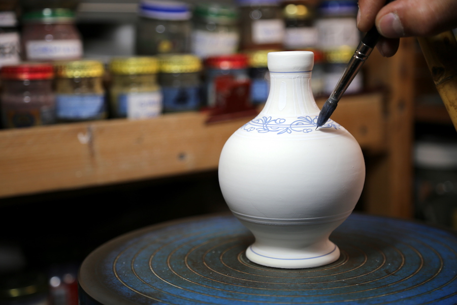 The ceramics of Carpegna in Le Marche Italy