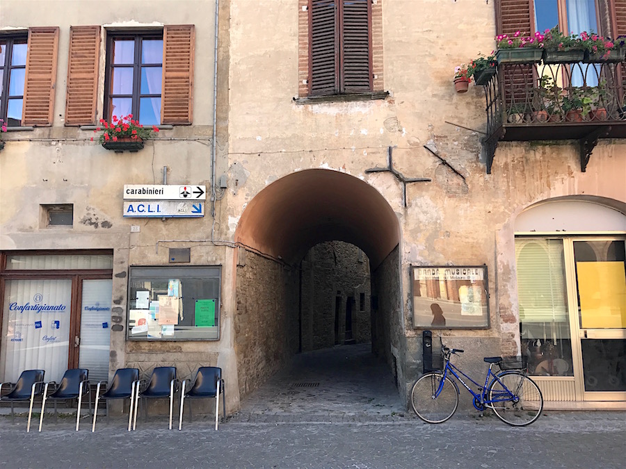 The main piazza in Mercatello sul Metauro in Le marche