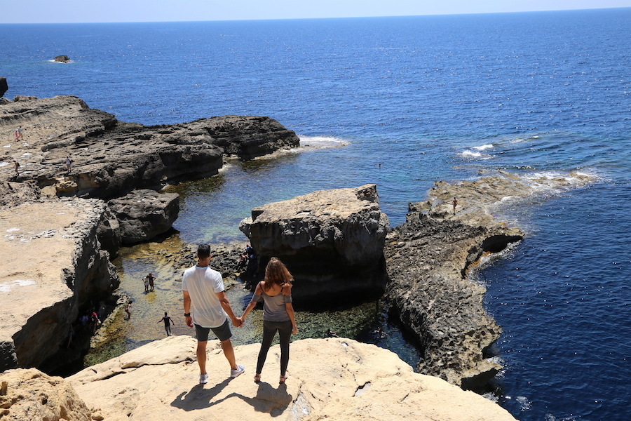 wejra Bay Waters in Gozo | Malta Bucket List: The Best Things to Do on the European Island