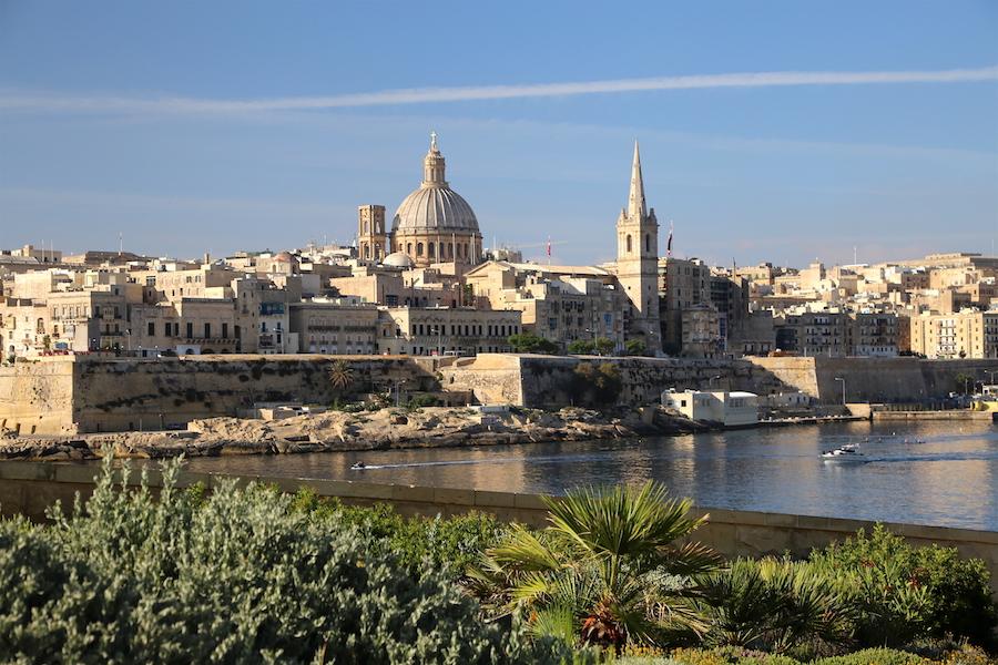 The Valletta Skyline | Malta Bucket List: The Best Things to Do on the European Island