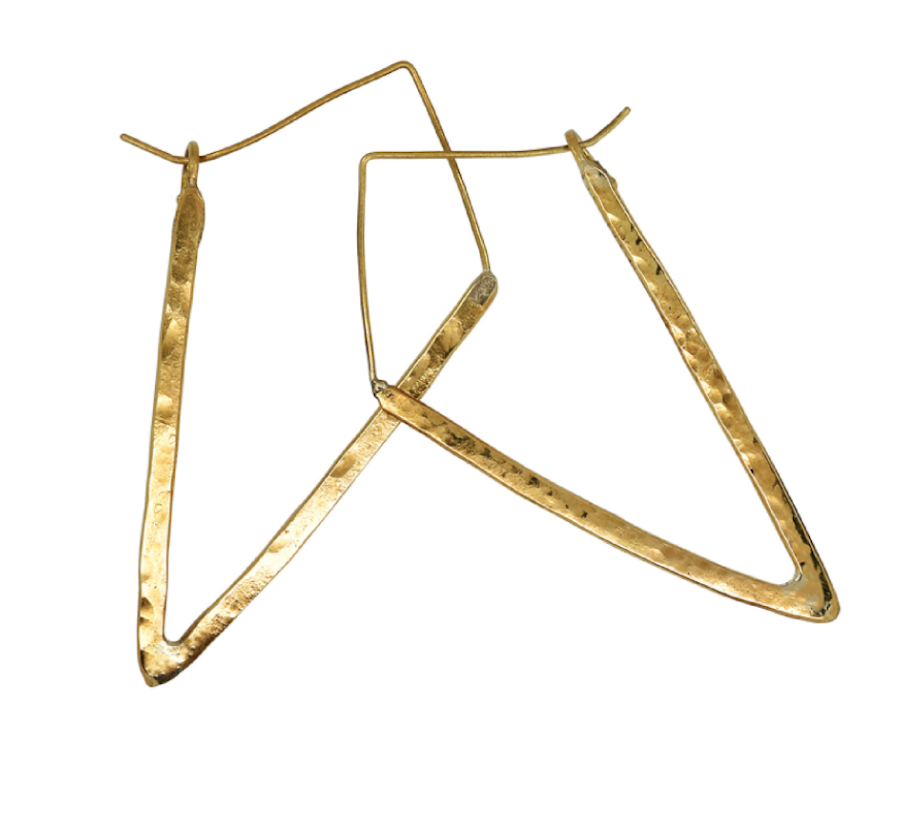 Travel Inspired Jewelry: Equator brass hoop Earrings