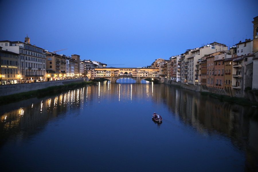 The arno in florence, Italy