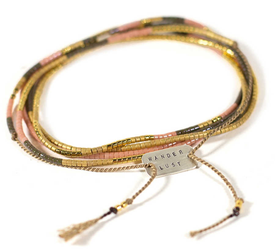 Travel Inspired Jewelry: Wanderlust Color wrap Bracelet
