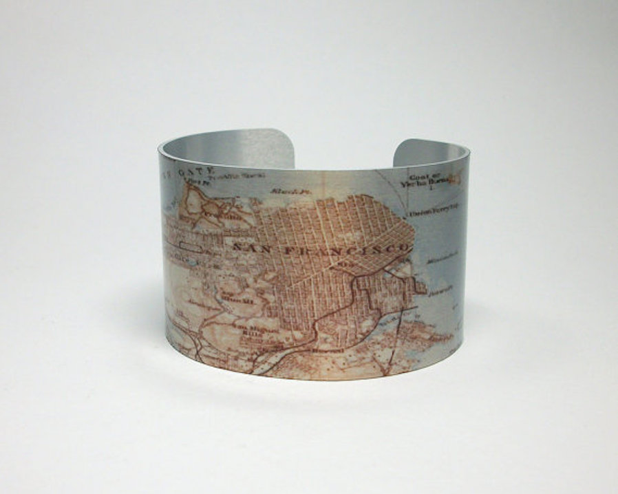 Travel Inspired Jewelry - City Map Bracelet
