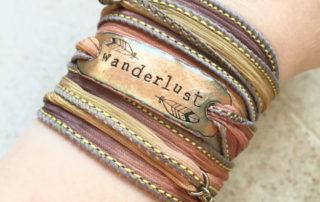 Travel Jewelry: Wanderlust color silk bracelet