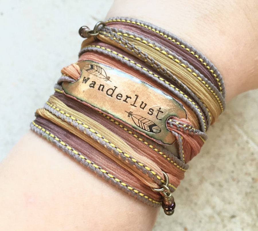 Travel Jewelry: Wanderlust color silk bracelet
