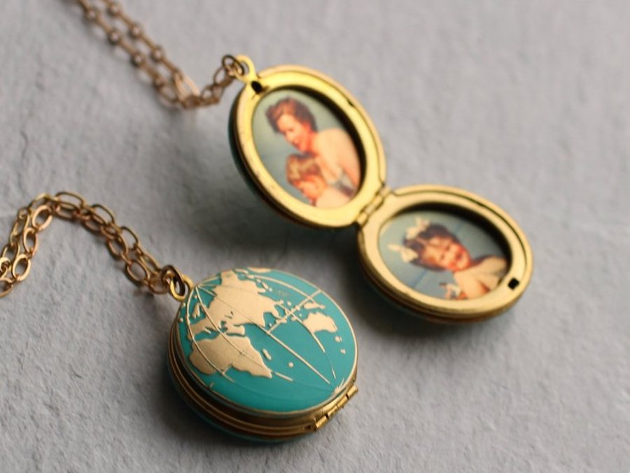 Travel Inspired Jewelry: Equator brass hoop Earrings