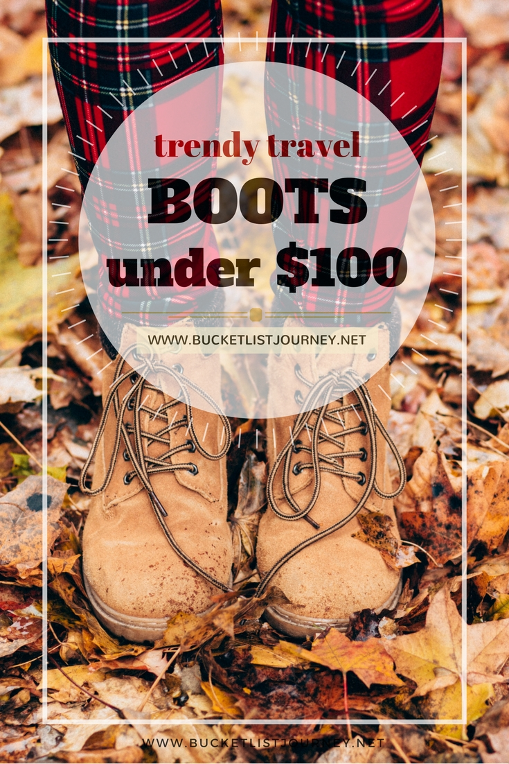Cute & Trendy Travel Boots for the Fall for Under $100 | shoes, booties, comfy, comfortable, ankle, combat, rain